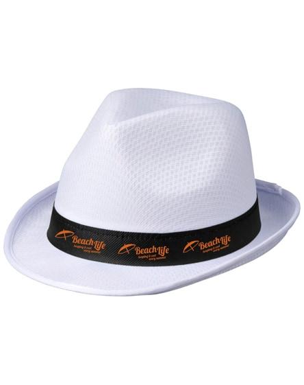 branded trilby hat