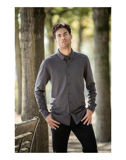 branded bigelow long sleeve men's pique shirt