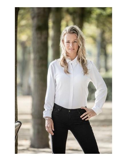 branded bigelow long sleeve women's pique shirt