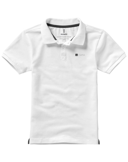 branded calgary short sleeve kids polo