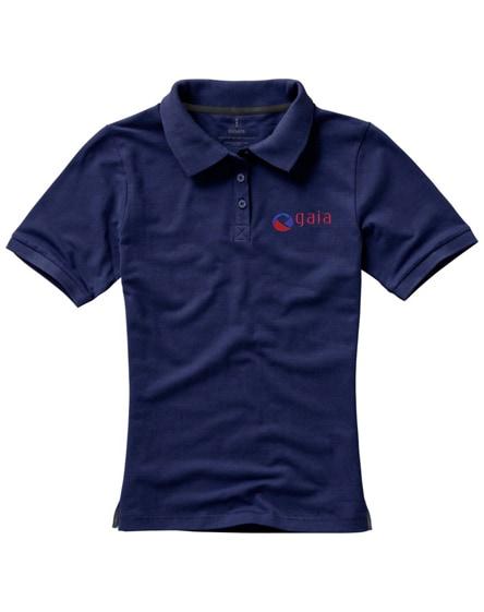 branded calgary short sleeve women's polo