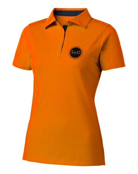 branded hacker short sleeve ladies polo