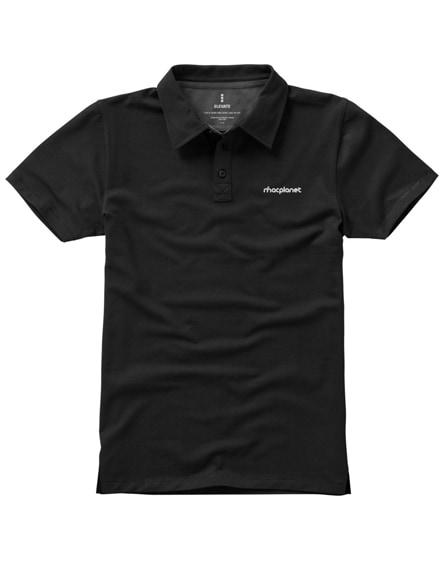 branded markham short sleeve men's stretch polo