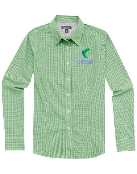 branded net long sleeve ladies shirt