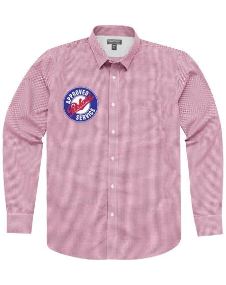 branded net long sleeve shirt