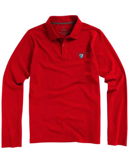 branded oakville long sleeve men's polo