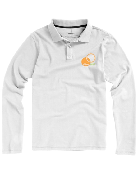 branded oakville long sleeve men's polo