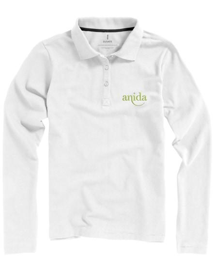 branded oakville long sleeve women's polo