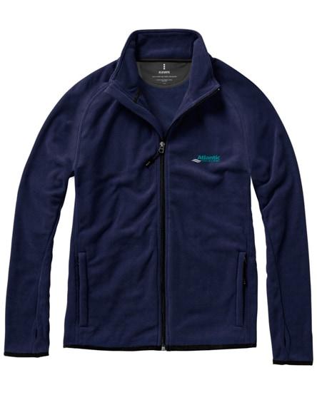 branded brossard micro fleece full zip jacket