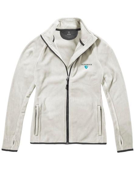 branded brossard micro fleece full zip ladies jacket