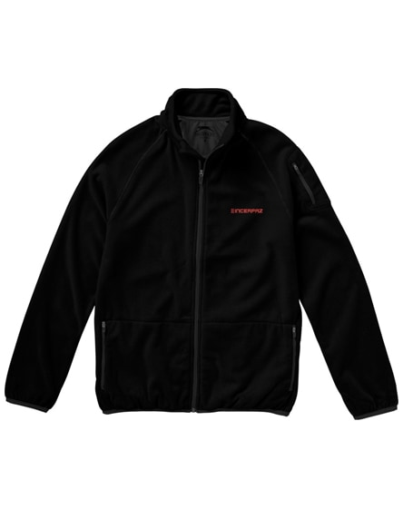 branded drop shot full zip micro fleece jacket
