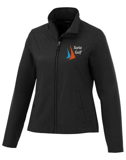 branded karmine women's softshell jacket