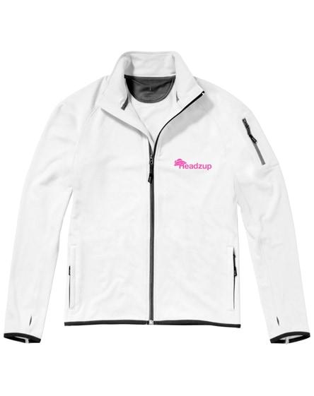 branded mani power fleece full zip jacket