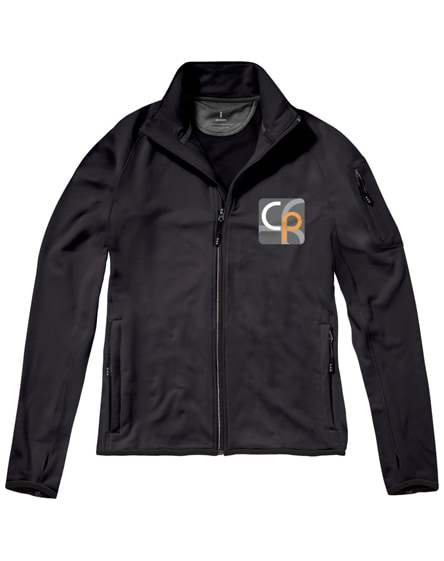 branded mani power fleece full zip jacket