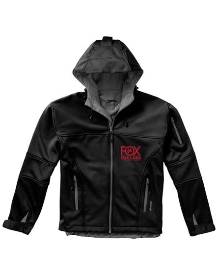 branded match softshell jacket