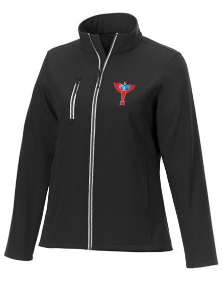 branded orion women's softshell jacket