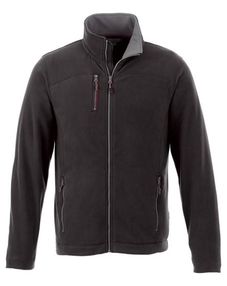 branded pitch microfleece jacket