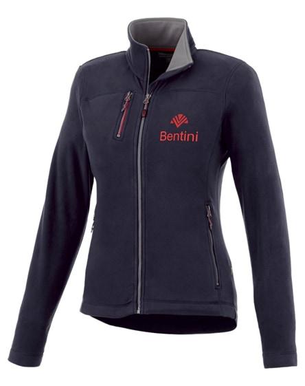 branded pitch microfleece ladies jacket