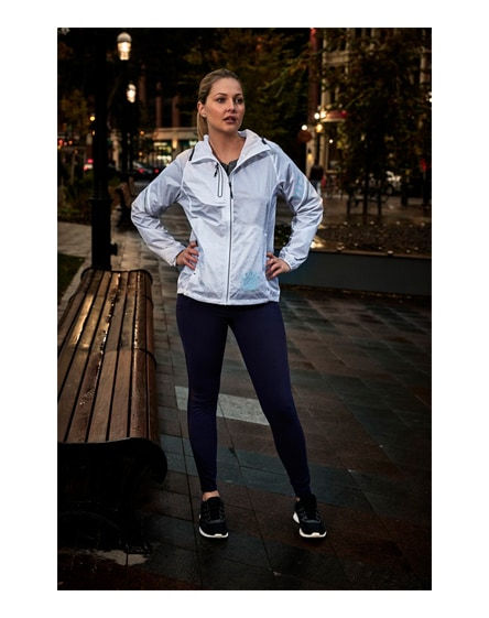 branded signal reflective packable ladies jacket