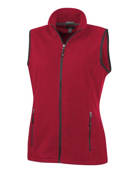 branded tyndall micro fleece ladies bodywarmer