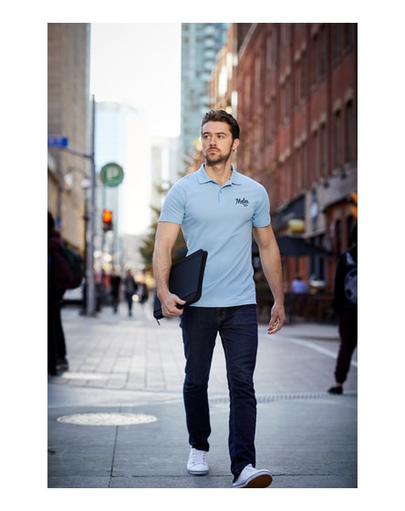branded advantage short sleeve men's polo