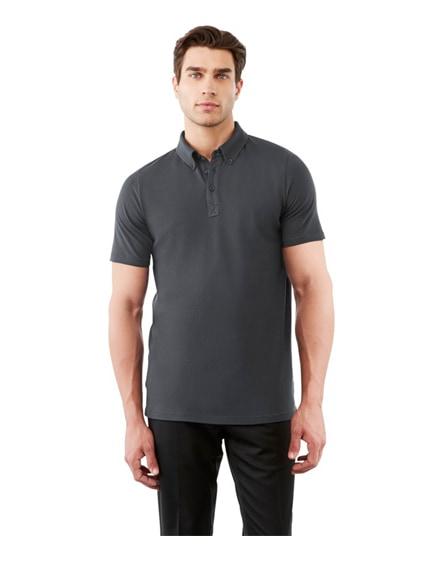 branded atkinson short sleeve button-down men's polo