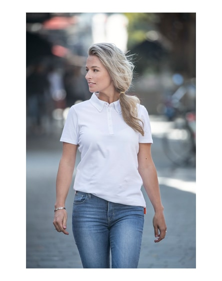 branded atkinson short sleeve button-down women's polo
