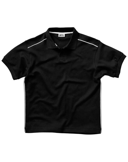 branded backhand short sleeve polo