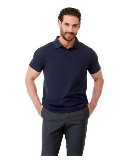 branded beryl short sleeve men's gots organic grs recycled polo