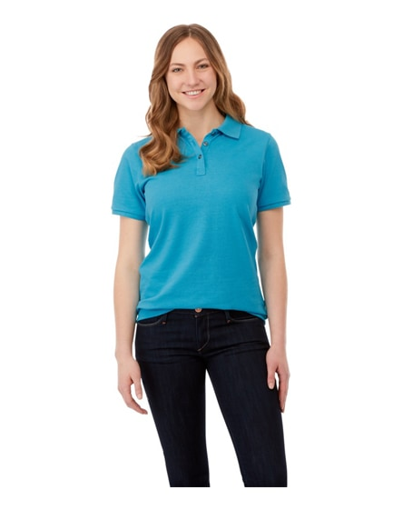 branded beryl short sleeve women's gots organic grs recycled polo