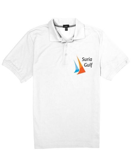 branded crandall short sleeve men's polo