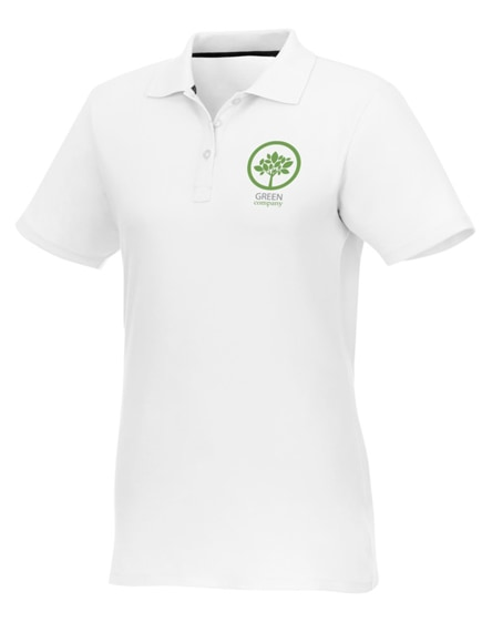 branded helios short sleeve women's polo