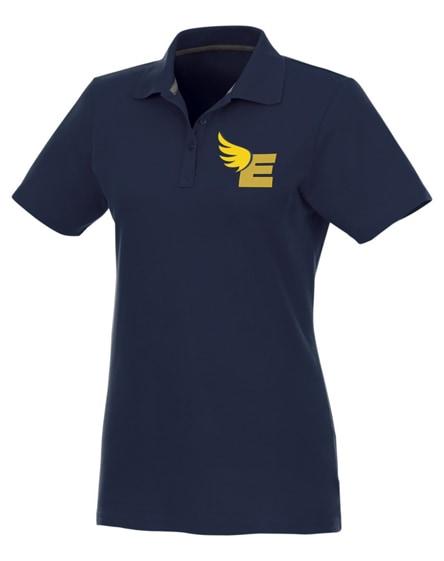 branded helios short sleeve women's polo