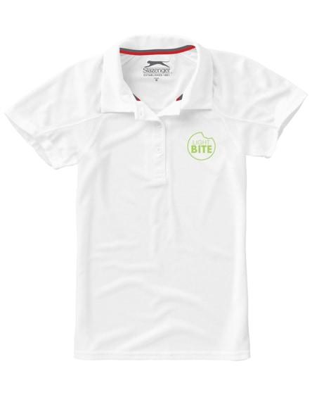 branded let short sleeve women's jersey polo