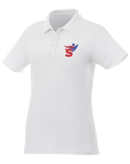 branded liberty short sleeve women's polo