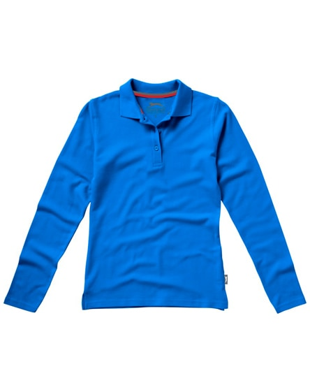branded point long sleeve women's polo