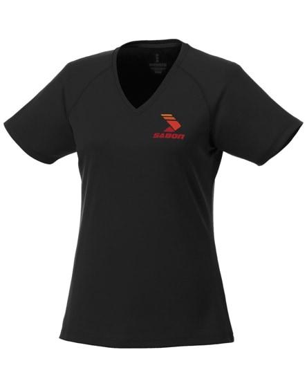 branded amery short sleeve women's cool fit v-neck shirt