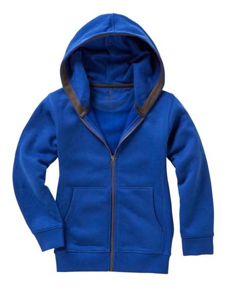 branded arora hooded full zip kids sweater