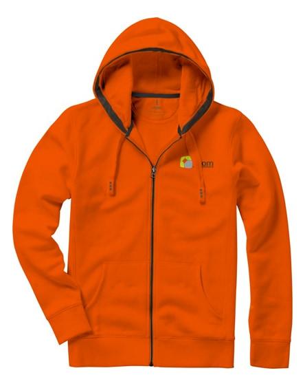 branded arora hooded full zip sweater