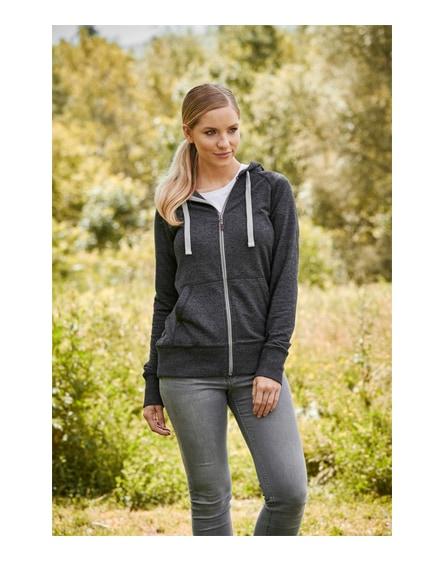 branded groundie full zip ladies hoodie