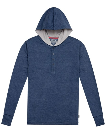 branded reflex knit hoodie