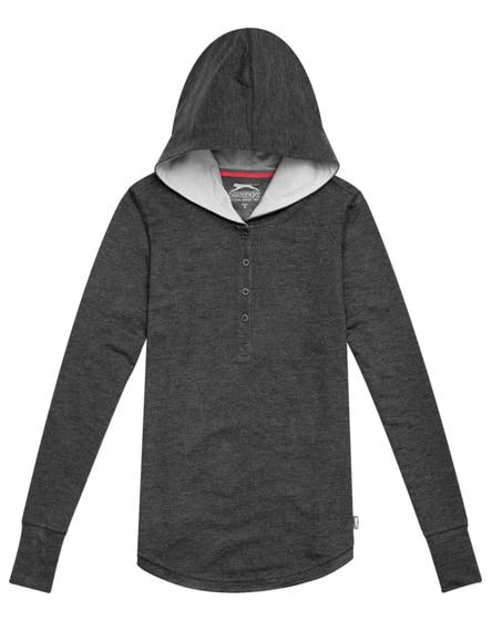 branded reflex ladies knit hoodie