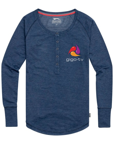 branded touch long sleeve ladies shirt