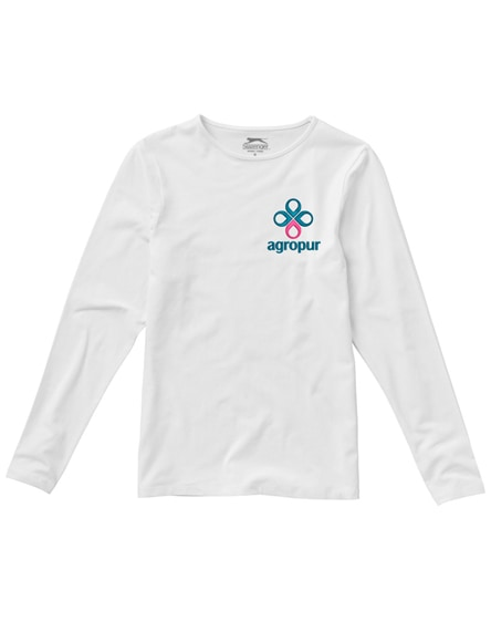 branded curve long sleeve women's t-shirt