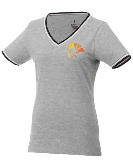 branded elbert short sleeve women's pique t-shirt