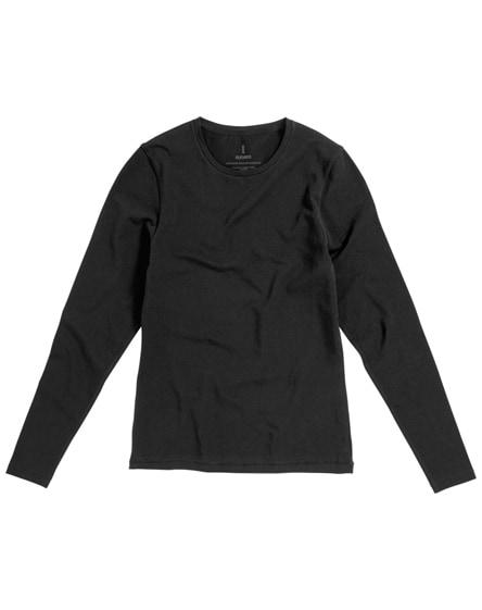 branded ponoka long sleeve women's organic t-shirt