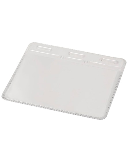 branded arell clear plastic id pouch