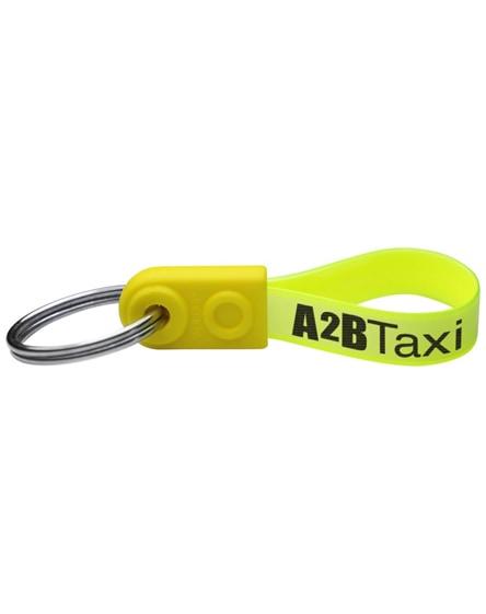 branded ad-loop mini keychain