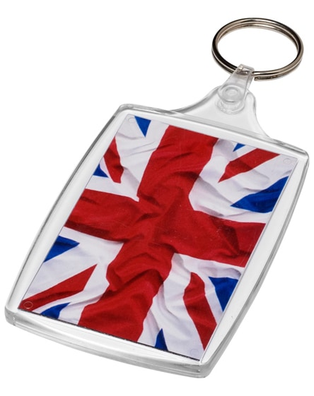 branded baiji l6 large keychain with plastic clip