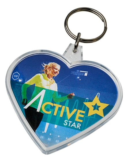 branded combo heart-shaped keychain